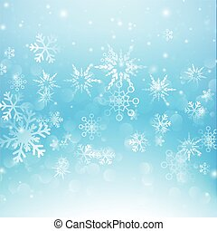 Snow fall with bokeh abstract blue background vector illustration eps10 007