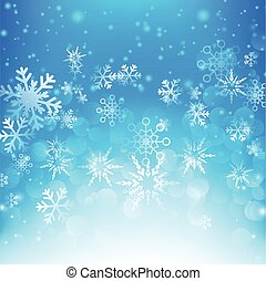 Snow fall with bokeh abstract blue background vector illustration eps10 009