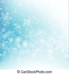 Snow fall with bokeh abstract blue background vector illustration eps10 012