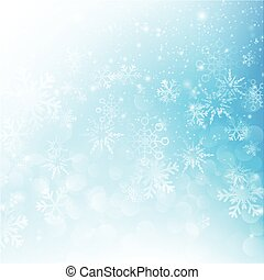 Snow fall with bokeh abstract blue background vector illustration eps10