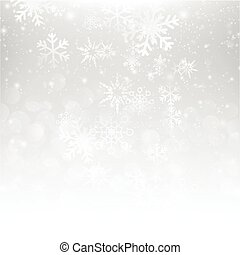 Snow fall with bokeh abstract grey background vector illustration eps10 003