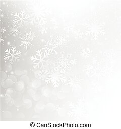 Snow fall with bokeh abstract grey background vector illustration eps10 004
