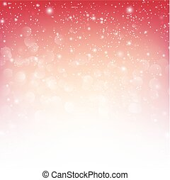 Snow fall with bokeh abstract red background vector illustration eps10 001