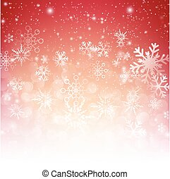 Snow fall with bokeh abstract red background vector illustration eps10 002