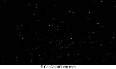 Snow Falling Away - Medium Shot - Seamless Loop - Alpha...
