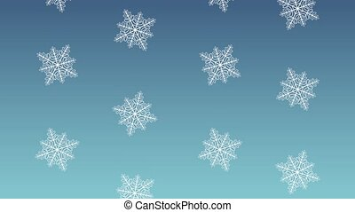 Snow falling background HD animation