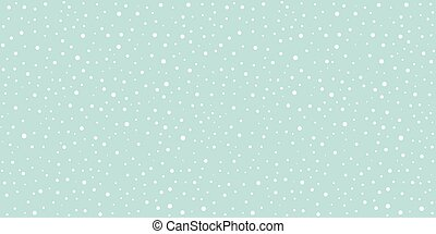 Snow Falling Seamless Pattern Christmas Background
