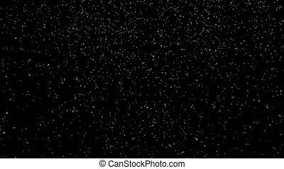 Snow Falling Slow - Wide Shot - Seamless Loop - Alpha Channel