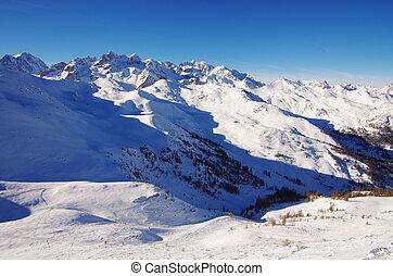 Snow fields in Serre Chevalier