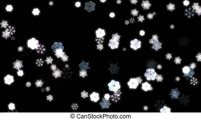 snow flake abstract 4k