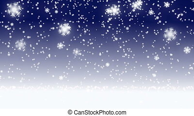 snow flake fall