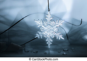 Snow Flake Holiday Background