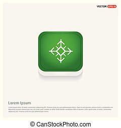 Snow Flake Icon Green Web Button