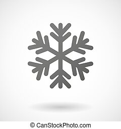 snow flake icon on white background - snow flake icon with...