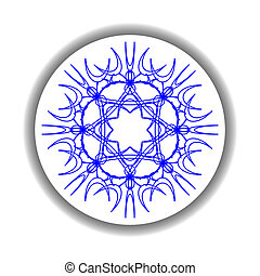 snow flake medallion 2