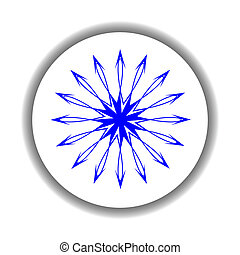snow flake medallion 4