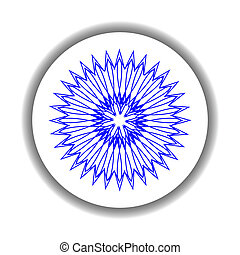 snow flake medallion 8