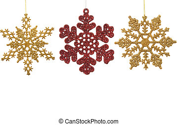 Snow Flake Ornaments - Snow flake Christmas ornaments