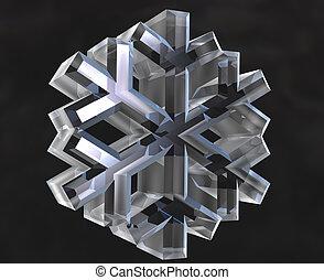 snow flake symbols (3D)  - snow flake symbols (3D made)