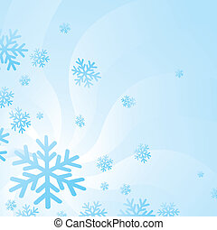 Snow Flakes Background - Background of hovering snow flakes...