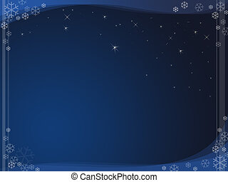 Snow flakes background - illustration for your christmas...