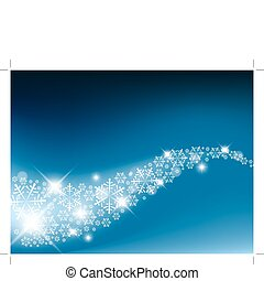 Snow flakes background - Blue Abstract Christmas background...
