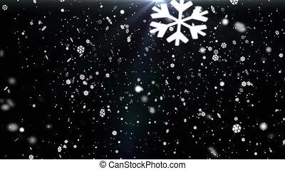 Snow Flakes Background Loop