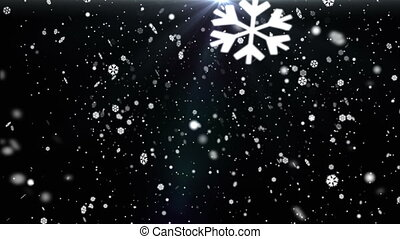 Snow Flakes Background Loop - Low angle view of falling...