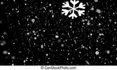 Snow Flakes Background Loop