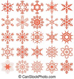 snow flakes collection - collection of different detailed ...