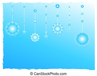 Snow flakes design - Snow flakes decoration background