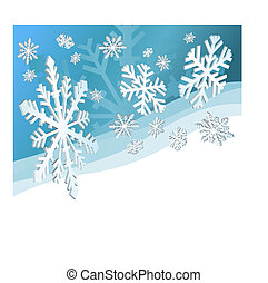 Snow Flakes - Christmas background with snowflakes and space...
