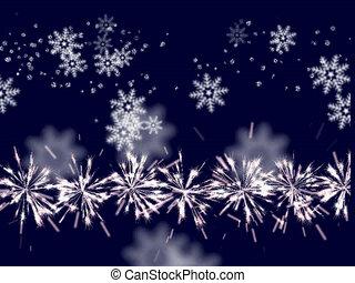 snow flakes falling
