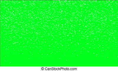 Snow Flakes On Green Screen
