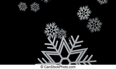 Snow Flakes Rain Background Loop 2