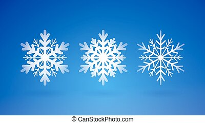 Snow Flakes Set - Scalable abstract winter decoration on...