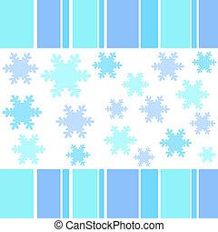 Snow flakes stripes - Snow flakes and stripes border