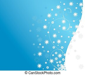 Snow Flurry - abstract snowfall winter background