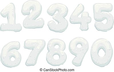 Snow Form Numbers Illustration