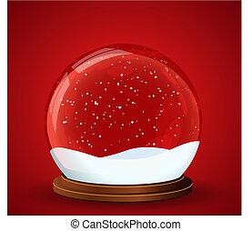 snow globe alone