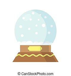 Snow Globe isolated on white background