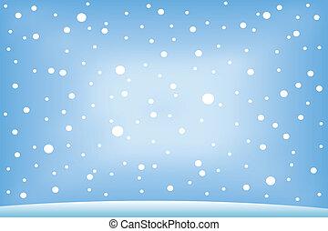 snow., het vallen