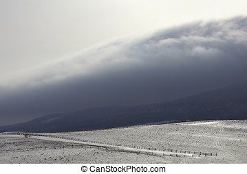 Snow hills at mountains