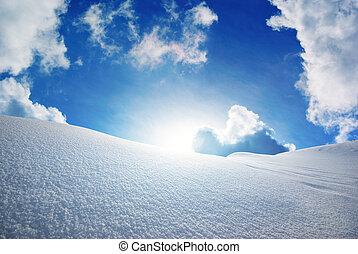 Snow hills.