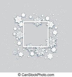 Snow holiday frame