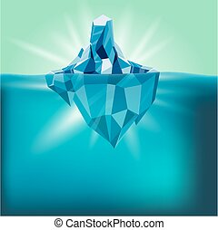 Snow Iceberg Water Mountain Background Vector