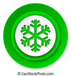 snow icon, air conditioning sign