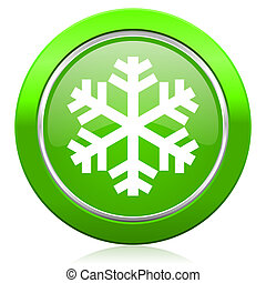 snow icon air conditioning sign