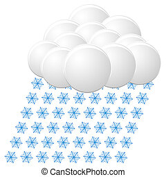 snow icon. vector