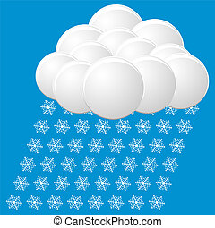 snow icon. vector
